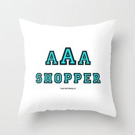 Triple-A Shopper – mint Throw Pillow