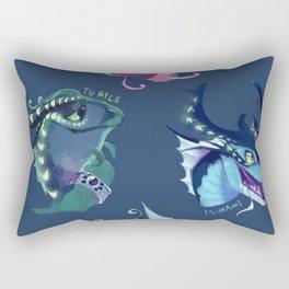 wings of fire sea Rectangular Pillow