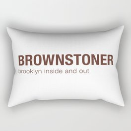 Brownstoner Logo - Brooklyn inside and out Rectangular Pillow
