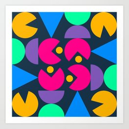 Bahaus Meets Pacman  Art Print