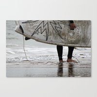 surfboard Canvas Prints featuring Surfboard 2 by Becky Dix