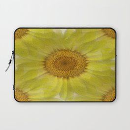 Sunny Day Daisy Floral Abstract Laptop Sleeve