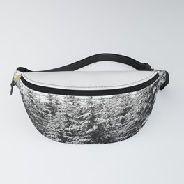 Winter Trees V - Snow Capped Forest Adventure Nature Photography Fanny Pack