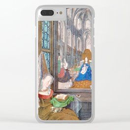 Mary Master of Burgundy - Mary and Mary Clear iPhone Case