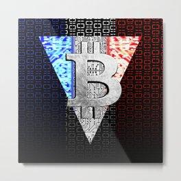 bitcoin france Metal Print