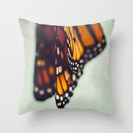 Monarch Study #5 Throw Pillow