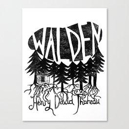 Walden (Black & White) Canvas Print