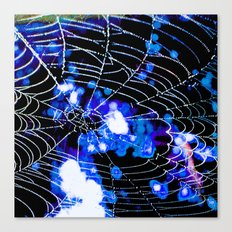Spider Love Blues Canvas Print