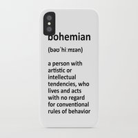 bohemian iPhone & iPod Cases featuring bohemian by bohemianizm