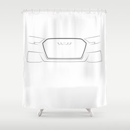 A3 8V 2016 Black Shower Curtain