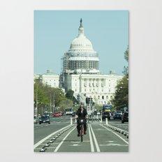 Capitol Cycling  Canvas Print
