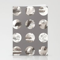 moon phases Stationery Cards featuring Moon phases by Dreamy Me