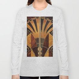 art deco wood Long Sleeve T-shirt