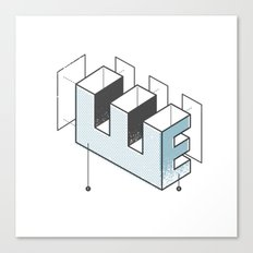 The Exploded Alphabet / E Canvas Print