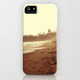 Vintage Retro Sepia Toned Coastal Beach Print iPhone Case