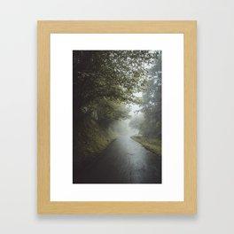 Misty Roads Framed Art Print