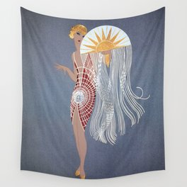 """1920's Art Deco Design """"The Flapper"""" Wall Tapestry"""