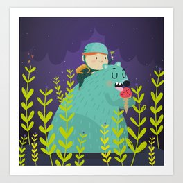 Night adventures Art Print