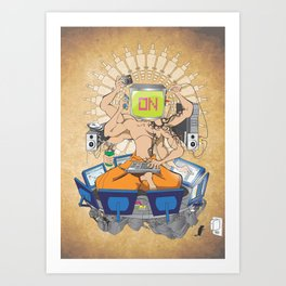 Divine Overload Art Print