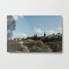Royal Mile from Princess Street | Colourful travel photography | Edinburgh, Scotland Metal Print