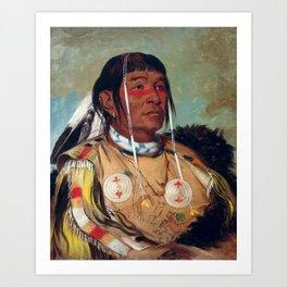 Sha-có-pay, The Six, Chief of the Plains Ojibwa by George Catlin Art Print