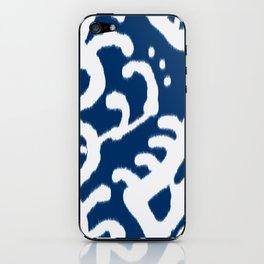Navy Ikat iPhone Skin
