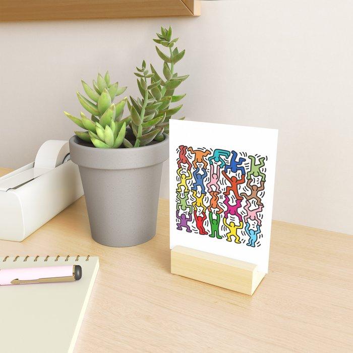 Homage to Keith Haring Acrobats II Mini Art Print