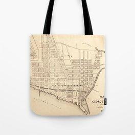 Vintage Map of Georgetown (Washington D.C.) 1876 Tote Bag