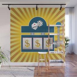 Slot Machine Wall Mural