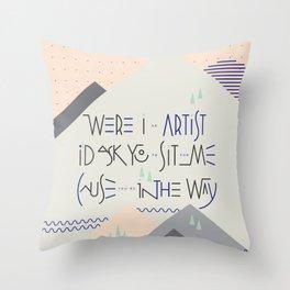 Haikuglyphics - Landscape Throw Pillow