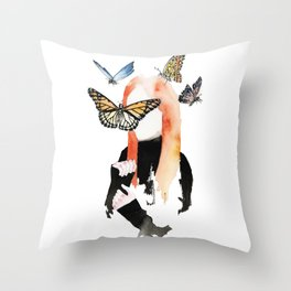 She is sensitive, but strong Throw Pillow