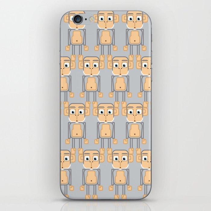 Super cute animals - Cheeky Grey Silver Monkey iPhone Skin