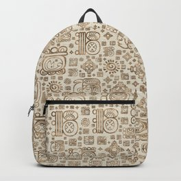 Mayan glyphs and ornaments pattern #1 Backpack