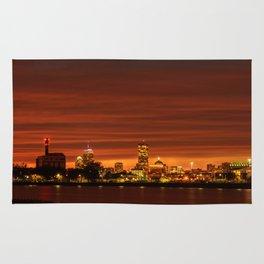 Boston, Christmas night - Sun-dusk Rug