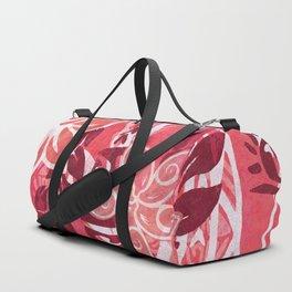 Red Hibiscus Polynesian Tapa Duffle Bag