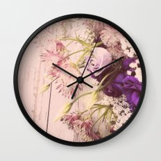 Gorgeous Vintage Floral Wall Clock