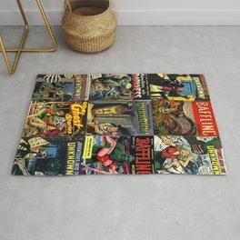 65 MCMLXV Classic Horror & Suspense Comic Books Print Rug