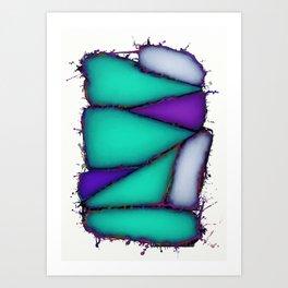 Crushed turuoise Art Print
