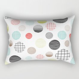 Drawn Circles Rectangular Pillow