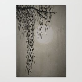 Willow in the moonlight Canvas Print