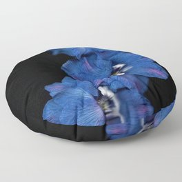 Purple Blue Delphinium Trio Floor Pillow