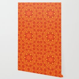 Red Orange and Yellow Kaleidoscope 5 Wallpaper
