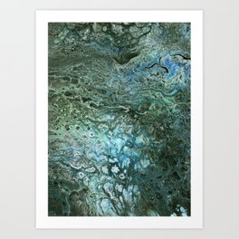 Green Algae Art Print