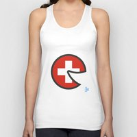 switzerland Tank Tops featuring Switzerland Smile by onejyoo