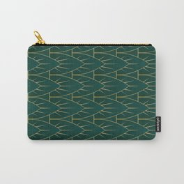 Green Swords Pattern Carry-All Pouch