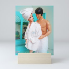 Barbie and Ken in the bathroom.  06 Mini Art Print