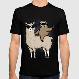 llama and sloth gift T-shirt