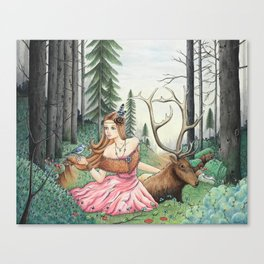 The Queen of the forest Canvas Print