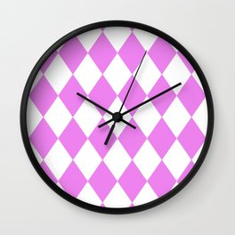Diamonds (Violet/White) Wall Clock