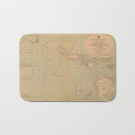 Hawaii Postal Route Map 1908 Bath Mat